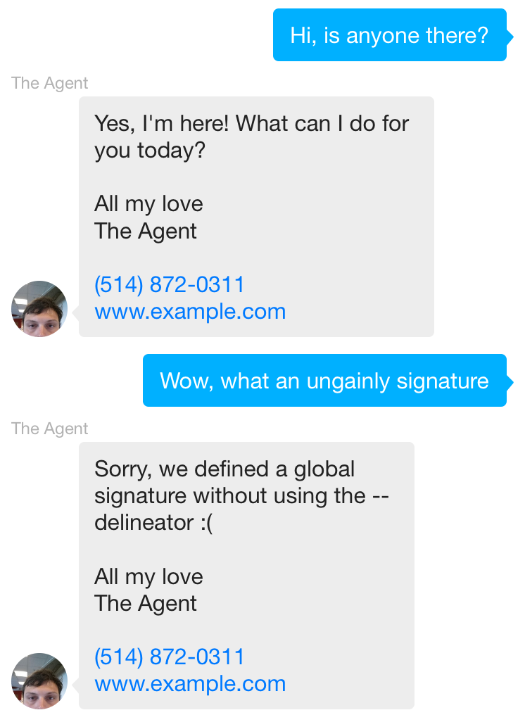 unsightly signatures